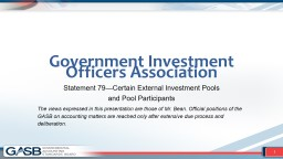 Government Investment Officers Association PowerPoint PPT Presentation