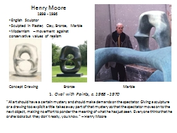 Henry Moore PowerPoint PPT Presentation