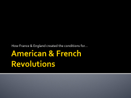 American & French Revolutions