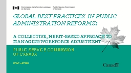Global Best Practices in Public Administration Reforms: