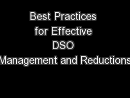 Best Practices for Effective DSO Management and Reductions