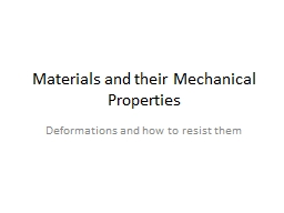 Materials and their Mechanical Properties