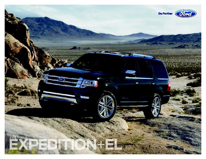2017 Ford Expedition ford.comPlatinum in Shadow Black with available e