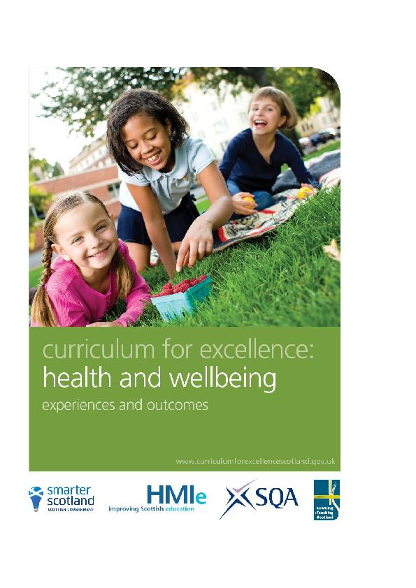 Health and wellbeing: experiences and outcomesHealth andwellbeingdevel
