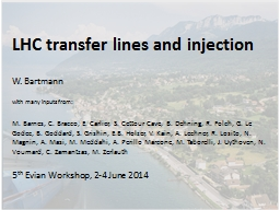 LHC transfer lines and injection
