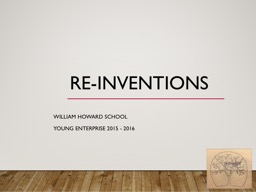 Re-inventions