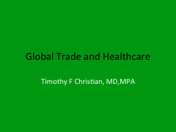Global Trade and Healthcare