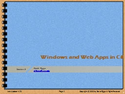 Windows and Web Apps
