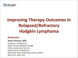 Improving Therapy Outcomes in Relapsed/Refractory