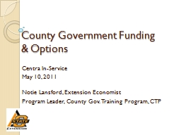 County Government Funding & Options