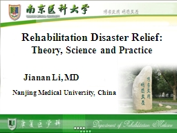 Rehabilitation Disaster Relie
