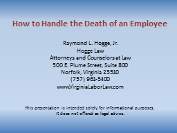 How to Handle the Death of an Employee