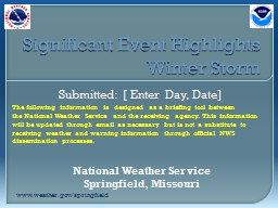 Significant Event Highlights