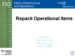 Repack Operational Items PowerPoint PPT Presentation
