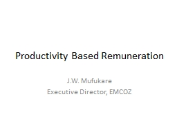Productivity Based Remuneration PowerPoint PPT Presentation