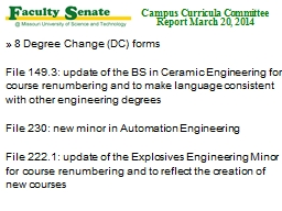 8 Degree Change (DC) forms PowerPoint PPT Presentation