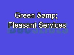 Green & Pleasant Services