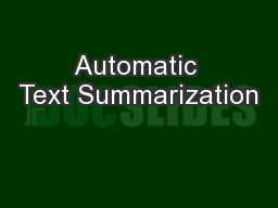 automatic words summarization