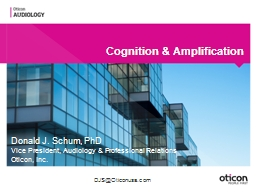Cognition & Amplification