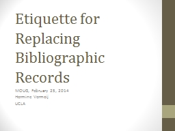 Etiquette for Replacing PowerPoint PPT Presentation