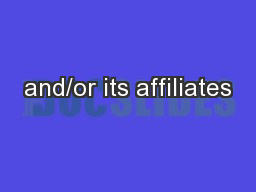 and/or its affiliates