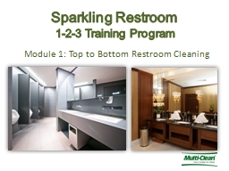 Module 1: Top to Bottom Restroom Cleaning PowerPoint PPT Presentation