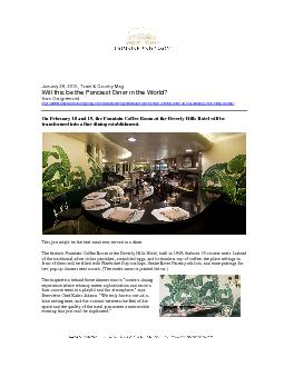 January 282015Town & Country MagWill this be the Fanciest Diner in the
