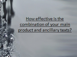 How effective is the combination of your main product and a PowerPoint PPT Presentation