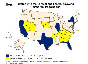 States (ranked) with 280 percent or higher growth (1990 to 2010) PowerPoint PPT Presentation