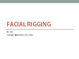 Facial rigging PowerPoint PPT Presentation