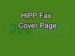 hipp fax cover page pdf document docslides