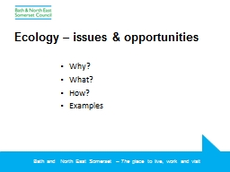 Ecology – issues &