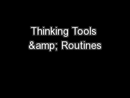 Thinking Tools & Routines PowerPoint PPT Presentation
