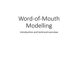 Word-of-Mouth Modelling