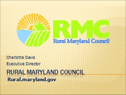 Rural Maryland Council PowerPoint PPT Presentation