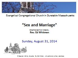 """""""Sex and Marriage"""