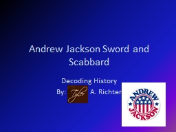 Andrew Jackson Sword and
