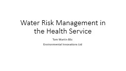 Water Risk Management in the Health Service