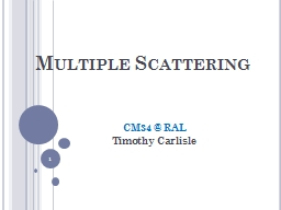 Multiple Scattering PowerPoint PPT Presentation