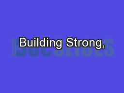 Building Strong,