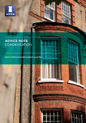 ADVICE NOTE CONDENSATION How to control condensation p