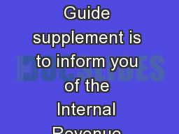 Widely Held Fixed Investment Trust WHFIT Guide The purpose of this  Tax Guide supplement is to inform you of the Internal Revenue Service IRS regulations for widely held xed investment trusts WHFITs PowerPoint PPT Presentation
