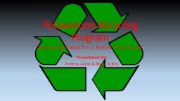 Potawatomi Recycling Program