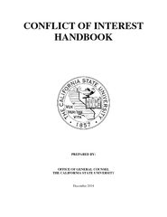 CONFLICT OF INTEREST HANDBOOK PREPARED BY OFFICE OF GE