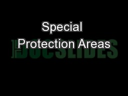 Special Protection Areas
