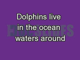 Dolphins live in the ocean waters around PowerPoint PPT Presentation