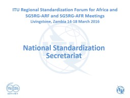 National Standardization Secretariat PowerPoint PPT Presentation