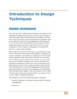principles of design, the next step is to learn the techniquesof flora