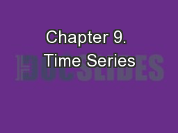 Chapter 9. Time Series