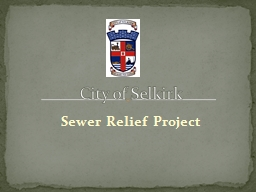 Sewer Relief Project